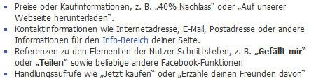 Facebook-Richtlinien für das Titelbild