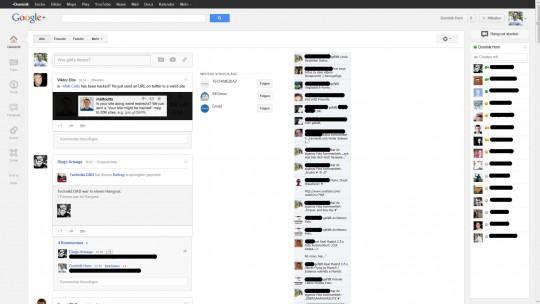 Google Whitespace mit Newsticker