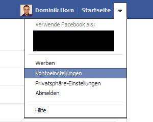 Menü Facebook App-Berechtigungen