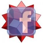 Facebook Logo verschmilzt mit Wolfram Alpha Logo