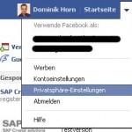 Facebook Privatsphäre-Einstellungen aufrufen