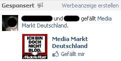 Facebook Werbeanzeigen und Freunde