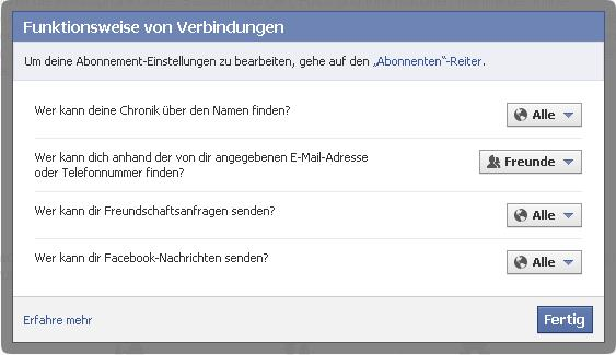 blockieren bei facebook