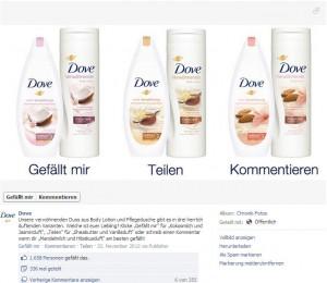 Worst Practice: Dove auf Facebook
