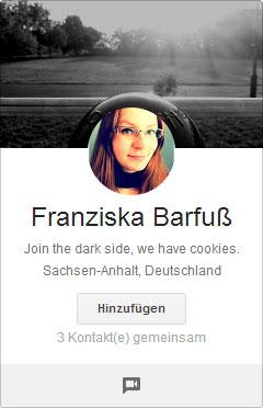Google+ Profilbilder Picdump: Franziska Barfuß in der Glaskugel
