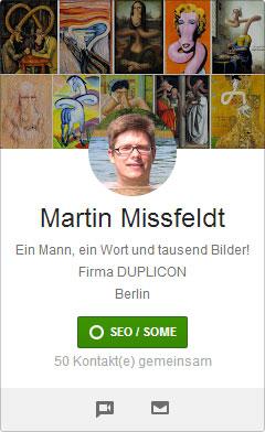 Google+ Profilbilder Picdump: Martin Mißfeldt schwimmt in Kunst