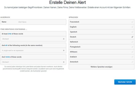 mentions Alert erstellen