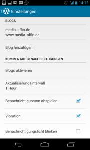 WordPress App Kommentar Benachrichtigungen