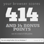 HTML5-Test Ergebnis Firefox