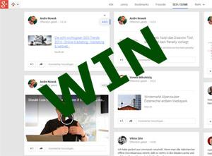 Google+ Win