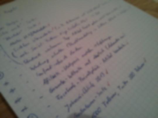 Handschriftliche To-Do Liste