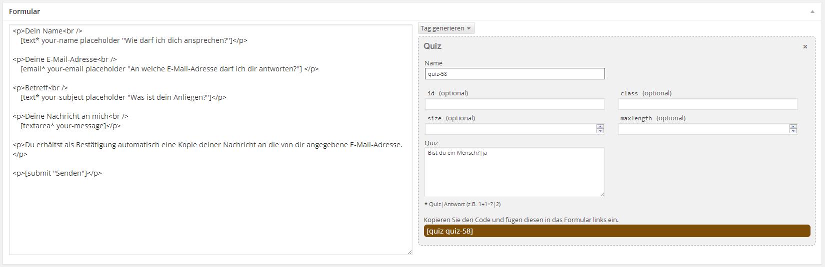 Kontaktformular für WordPress: Contact Form 7 Performance ...