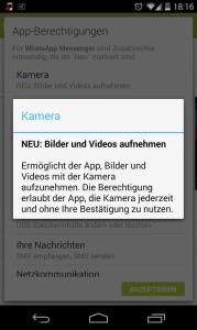 WhatsApp: Bilder und Videos aufnehmen