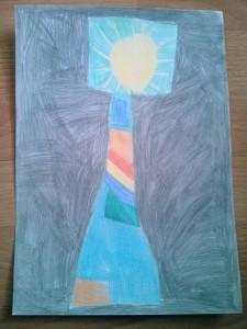 Farbenfrohe Xovilichter Lampe