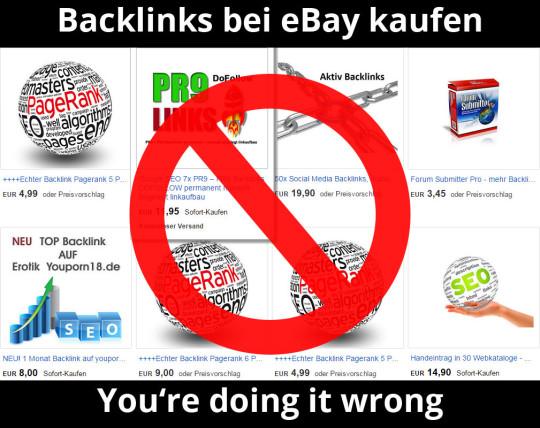 Backlink-Angebote bei eBay