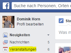 Facebook Veranstaltungen Link